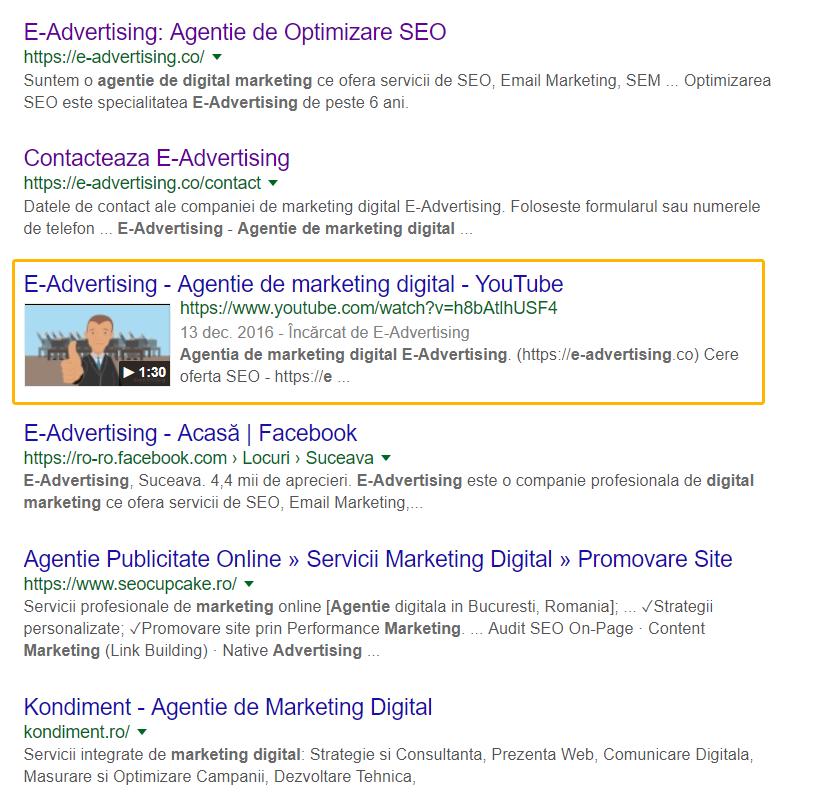 e-advertising video