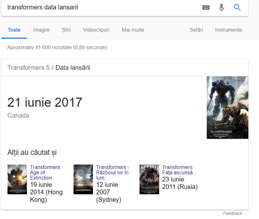 recomandari google 2